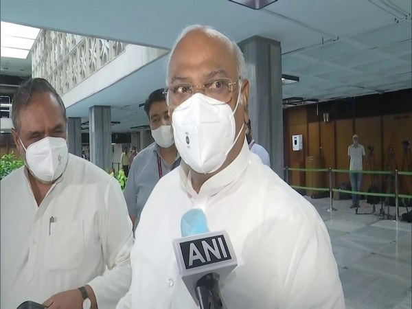 Congress leader and Leader of Opposition in the Rajya Sabha Mallikarjun Kharge (Photo/ANI)