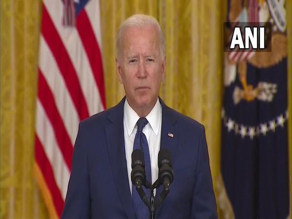 US President Joe Biden speaking from White House on Thursday (local time).