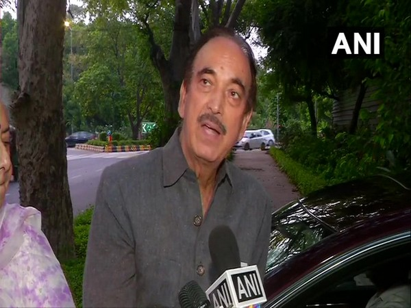 Congress leader Ghulam Nabi Azad briefing the media after the meeting in New Delhi on Friday. Photo/ANI