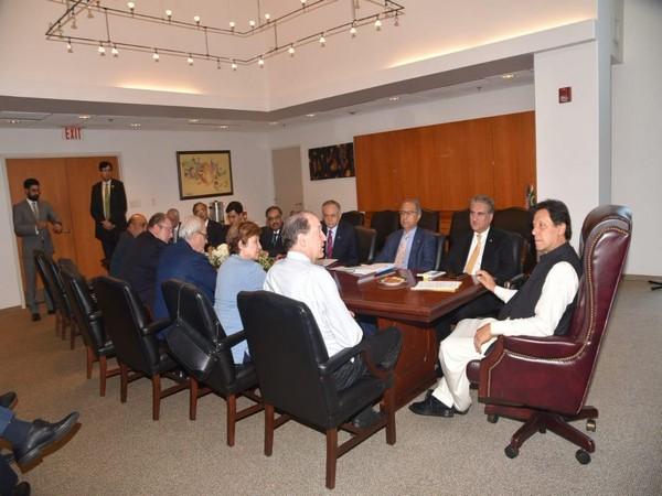 Pak PM Imran Khan with World Bank President David Malpass