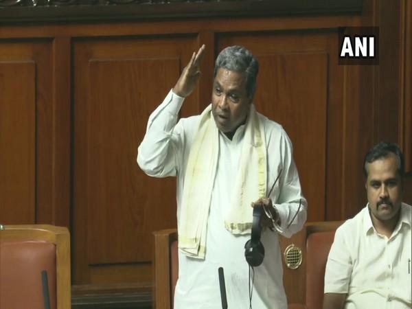 Senior Congress leader Siddaramaiah at the Vidhan Soudha in Bengaluru on Monday. Photo/ANI