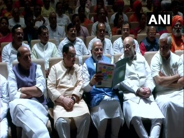 Visual from BJP Parliamentary Party meeting at Parliament Library Building