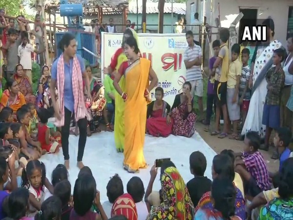 All Odisha Kinner Mahasangh performing a play to spread awareness about the government schemes extended to the pregnant woman. (Photo/ANI)
