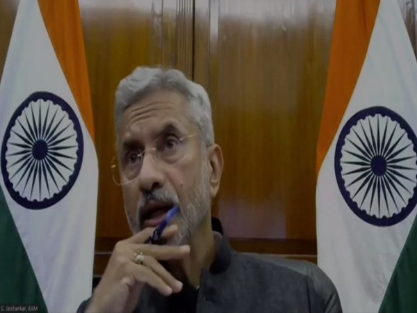Minister of External Affairs S Jaishankar speaking at the book launch on Wednesday. Photo/ANI