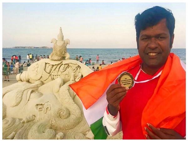 Sand artist Sudarshan Pattnaik won People's Choice Prize at USA [Photo/ANI]
