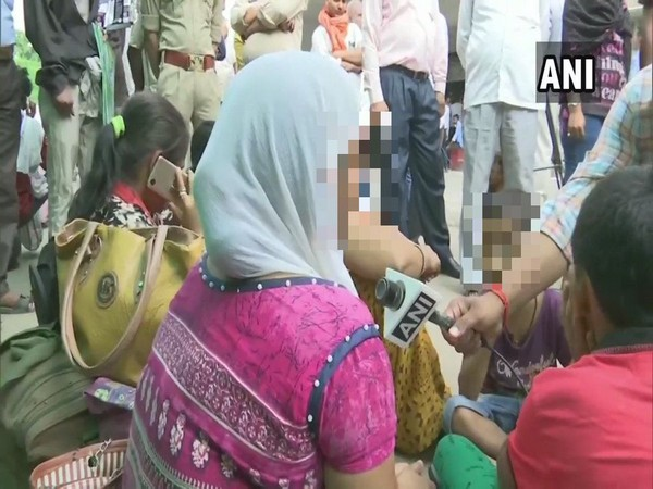 A family member of Unnao rape victim speaks to ANI in Lucknow on Tuesday. [Photo/ANI]