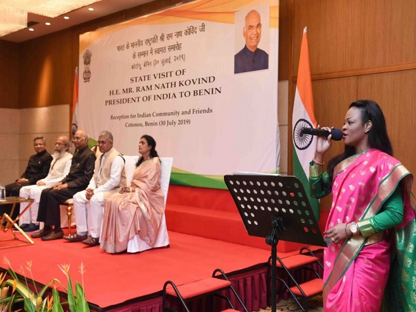 President Ram Nath Kovind during an event in Benin