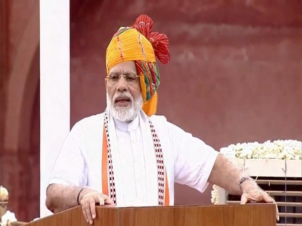 Prime Minister Narendra Modi addressing the nation on the occasion of 73rd Independence Day