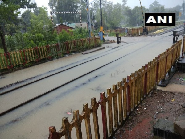 Train services affected due to heavy rain in Odisha [Photo/ANI]