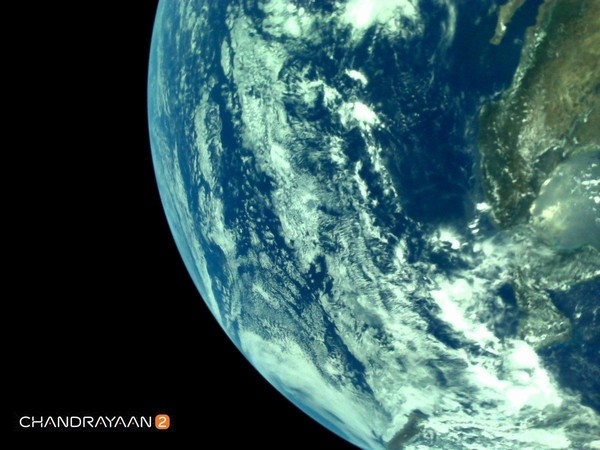 In a series of tweet, ISRO shared the Earth's pictures clicked by LI4 Camera of Chandrayaan-2's Vikram Lander on August 03.