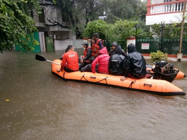 NDRF rescued 115 people from Baner area in Pune on Monday. (Photo/ANI)