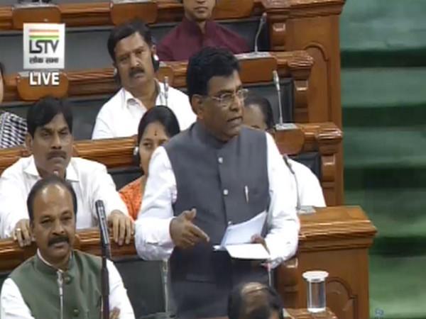 Khammam MP Nama Nageswara Rao addressed Lok Sabha on Tuesday. [Image Credit: Lok Sabha TV]