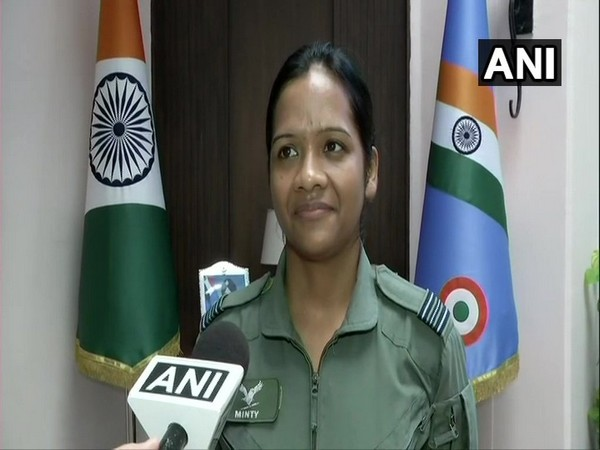 Indian Air Force Squadron leader Minty Agarwal speaking to ANI in New Delhi on Thursday. Photo/ANI