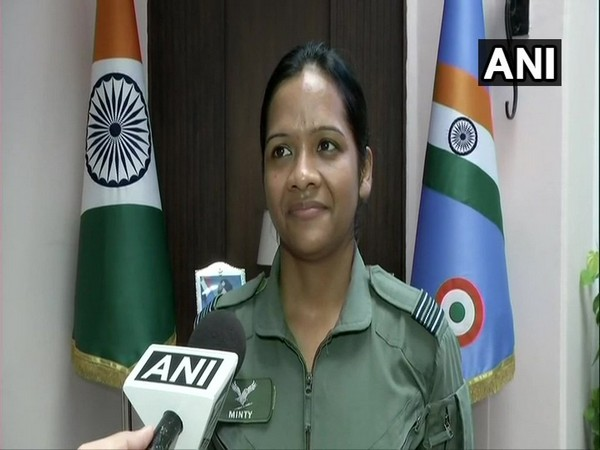 Squadron Leader Minty Agarwal speaking to ANI in New Delhi on Thursday. Photo/ANI