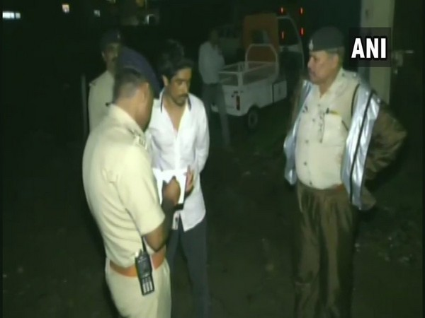 Indore Police paraded a man for thrashing a minor boy on Wednesday. Photo/ANI