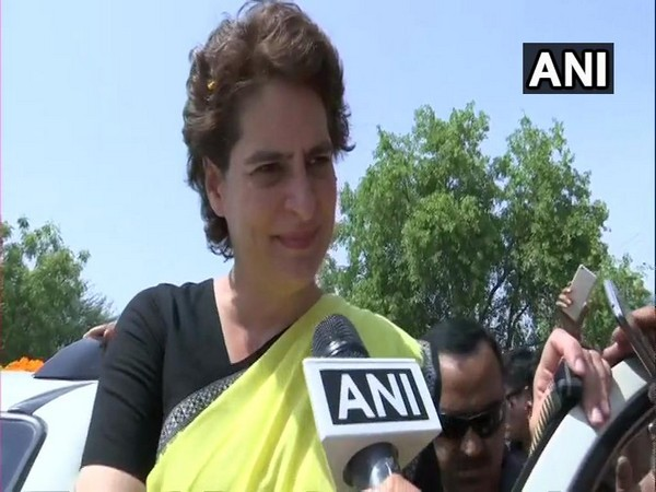 Congress leader Priyanka Gandhi Vadra [Photo/ANI]