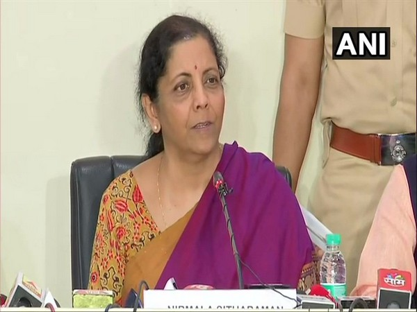 Finance Minister Nirmala Sitharaman addressing a press conference in Pune. (Photo/ANI)