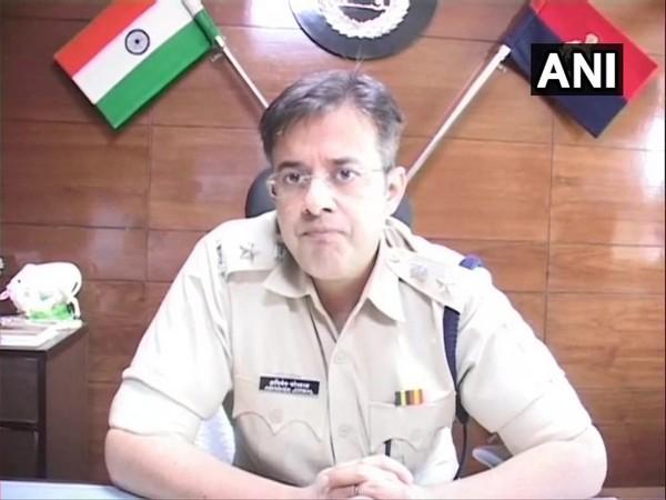 Ambala Superintendent of Police (SP) Abhishek Jorwal talking to reporters on Tuesday. Photo/ANI