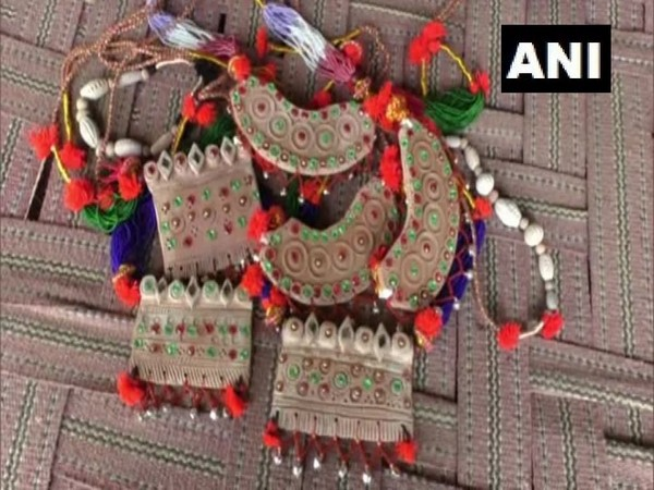 Jewellery made from clay in the Vishala village of Barmer in Rajasthan. Photo/ANI