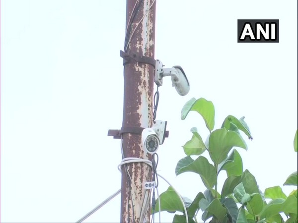 As many as 15 CCTV cameras have been set up in a village in Gorakhpur to keep a check on crime.