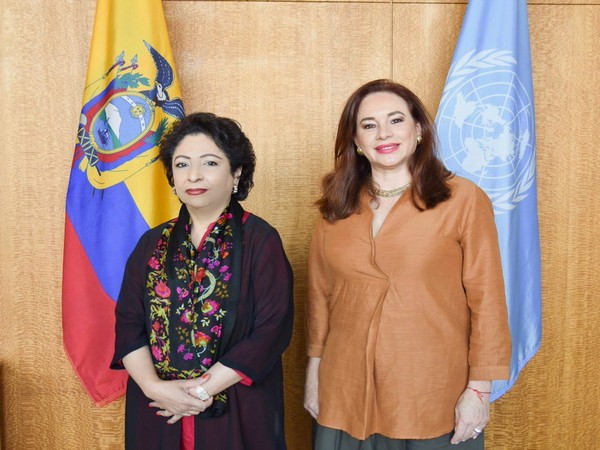 Pakistan Permanent Representative to the United Nations, Maleeha Lodhi, and President of United National General Assembly Maria Fernanda Espinosa