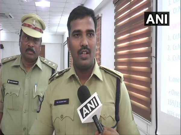 Vijayawada Deputy Commissioner of Police (DCP) speaking to ANI on Friday. Photo/ANI