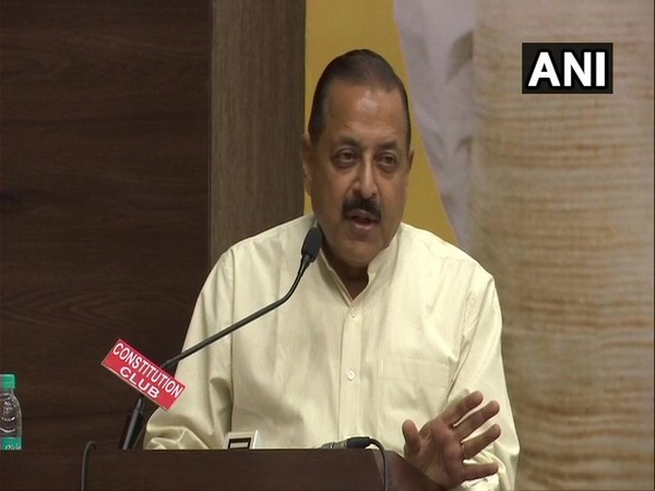 Union Minister Jitendra Singh at an event organised to pay homage to Atal Bihari Vajpayee. Photo/ANI