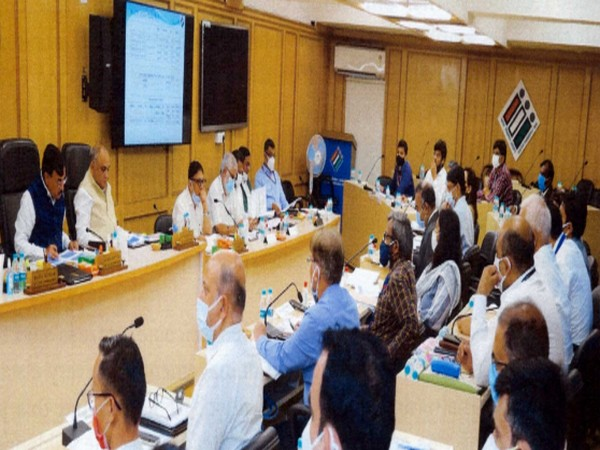 ECI holds a review meeting with CEOs of five states.