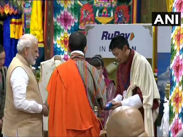 Prime Minister Narendra Modi launched the RuPay card in Bhutan on Saturday. Photo/ANI