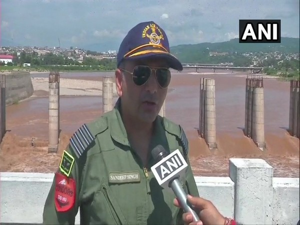 Sandeep Singh, IAF Chief Operations Officer, talking to ANI on Monday in Jammu. Photo/ANI