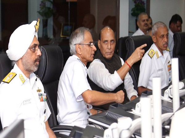 Defence Minister Rajnath Singh on Monday visited the IMAC and IFC-IOR located at Gurugram. (Photo courtesy: Ministry of Defence)