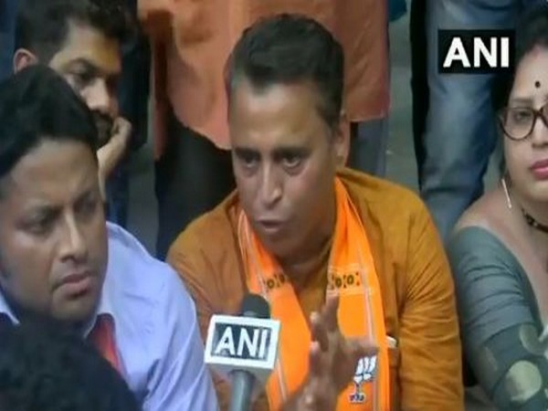 Sunil Deodhar speaking to reporters outside CEO office in Kolkata on Monday. Photo/ANI