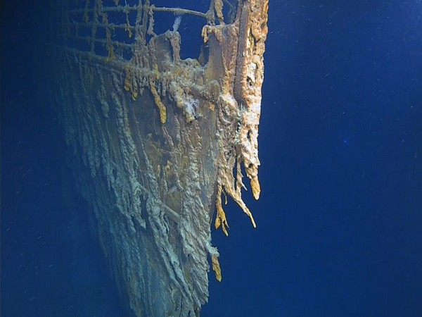Wreckage of the Titanic as seen in footage by divers (Image credit: Atlantic Productions)