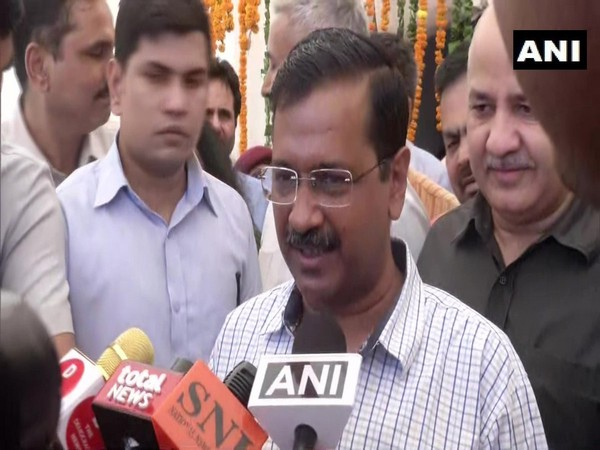 Chief Minister Arvind Kejriwal speaking to media in New Delhi on Friday.