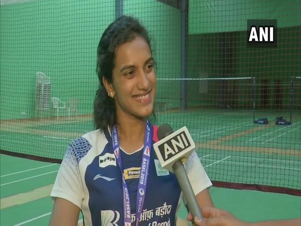 World Badminton champion PV Sindhu in Hyderabad.