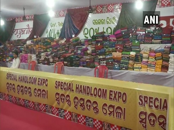 The expo was organised to promote local handloom products in Bhubaneswar on Tuesday. Photo/ANI