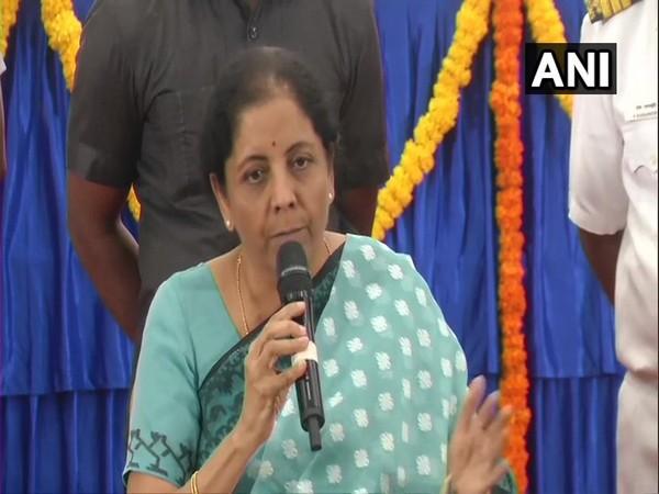 Union Finance Minister Nirmala Sitharaman addressing a press conference in Chennai on Sunday.