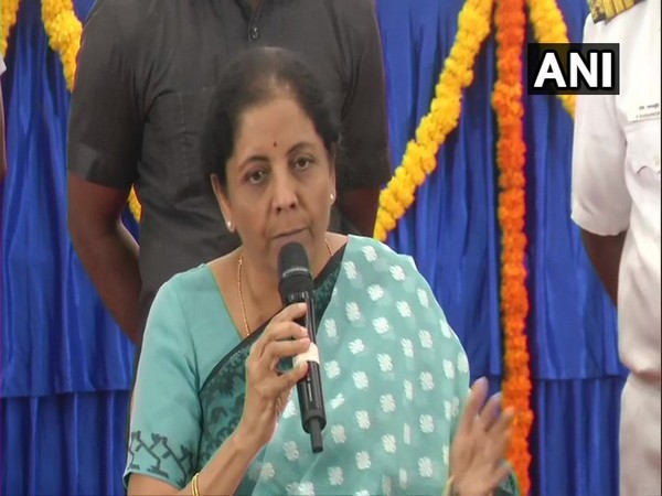 Union Finance Minister Nirmala Sitharaman addressing a press conference in Chennai on Sunday. Photo/ANI