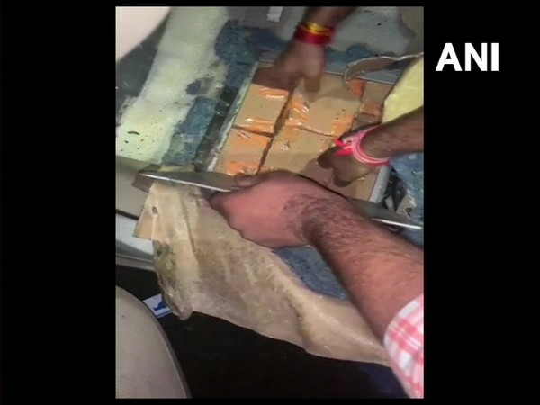 Cash worth Rs 4.10 crore seized from a vehicle on Sehore road. Photo/ANI