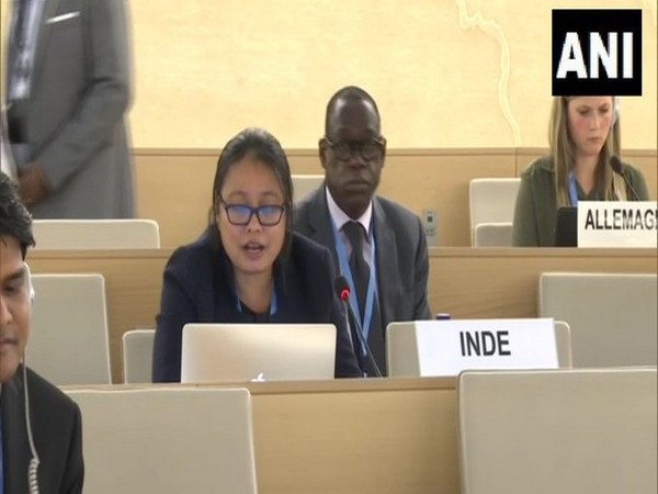 Kumam Mini Devi, First Secretary in the Permanent Mission of India at UNHRC. Photo/ANI