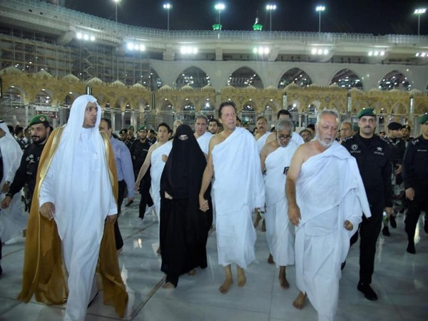 Pakistan Prime Minister Imran Khan performing Umrah with his wife