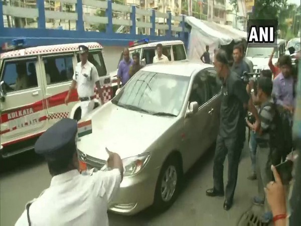 Photo of West Bengal Governor Jagdeep Dhankhar arriving at the AMRI hospital on Saturday. Photo/ANI