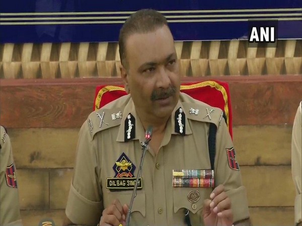 DGP Dilbagh Singhaddressing a press conference in Srinagar on Wednesday. Photo/ANI