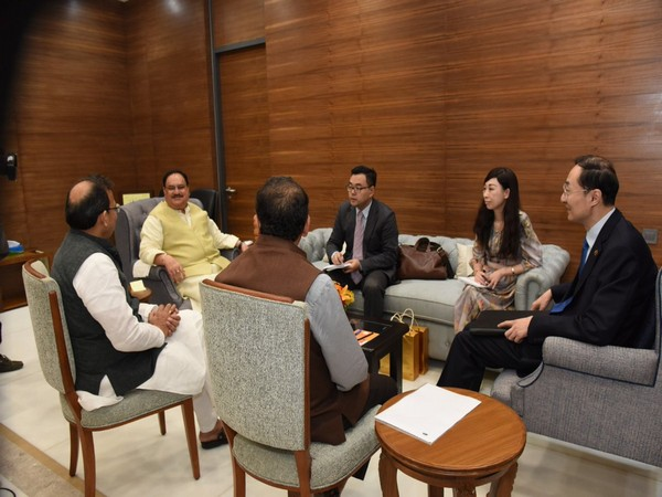 BJP Working president JP Nadda met Chinese ambassador to India, Sun Weidong, here today