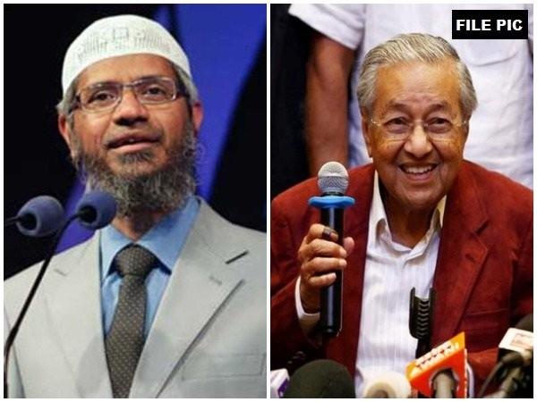 Controversial Islamic preacher Zakir Naik and Malaysian Prime Minister Mahathir Mohamad