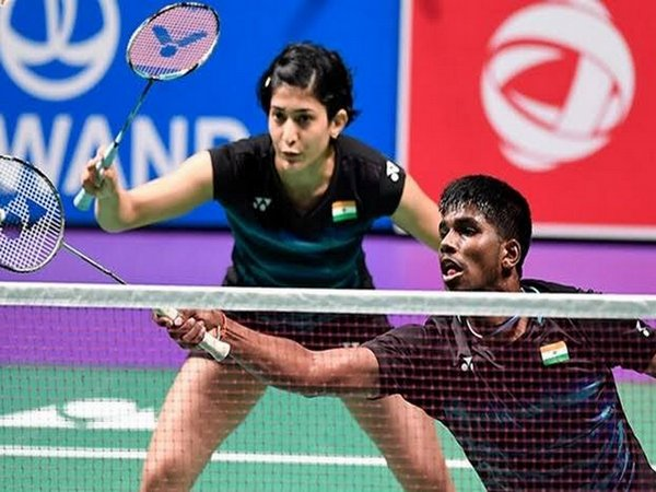Mixed doubles pair of Satwiksairaj Rankireddy and Ashwini Ponnappa (Photo/ BAI Media Twitter)