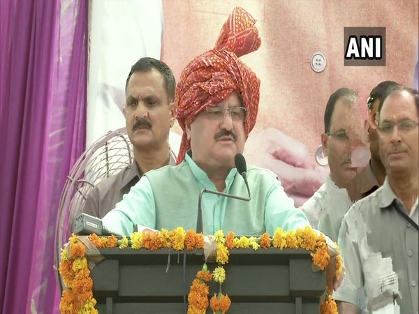 BJP working president JP Nadda speaking at an event in New Delhi on Wednesday. Photo/ANI