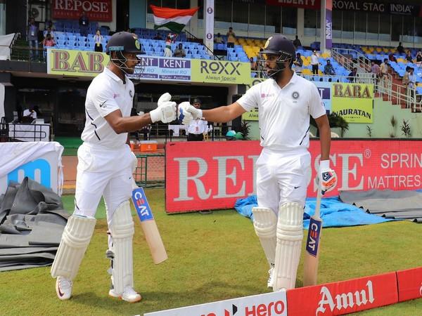 India's opening pair of Rohit Sharma and Mayank Agarwal (Photo/ BCCI Twitter)