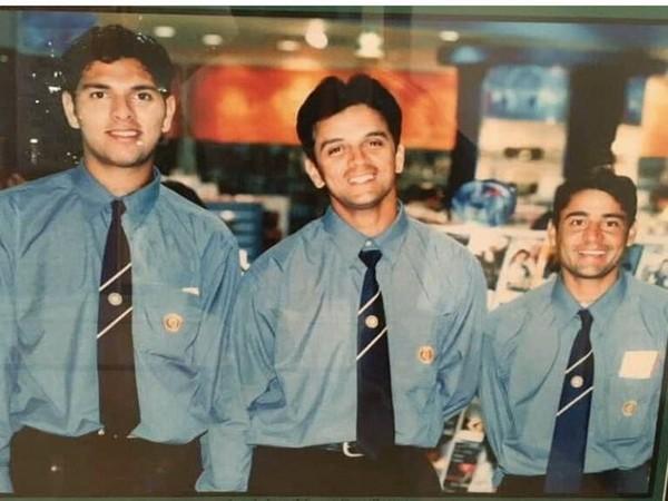 Yuvraj Singh with Rahul Dravid and Vijay Dahiya (Photo/ Yuvraj Singh Twitter)