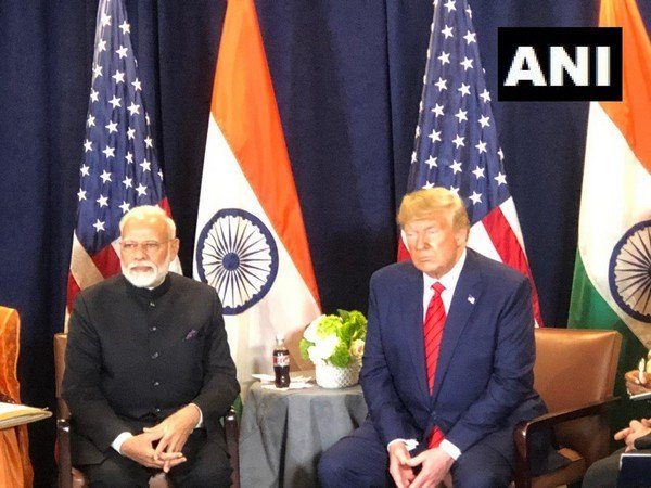 A bottle of diet coke kept between Prime Minister Narendra Modi and US President Donald Trump turned out to be showstopper. Photo/ANI